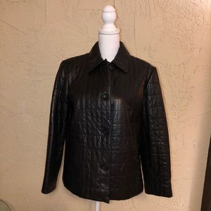 Preston & York quilted leather jacket